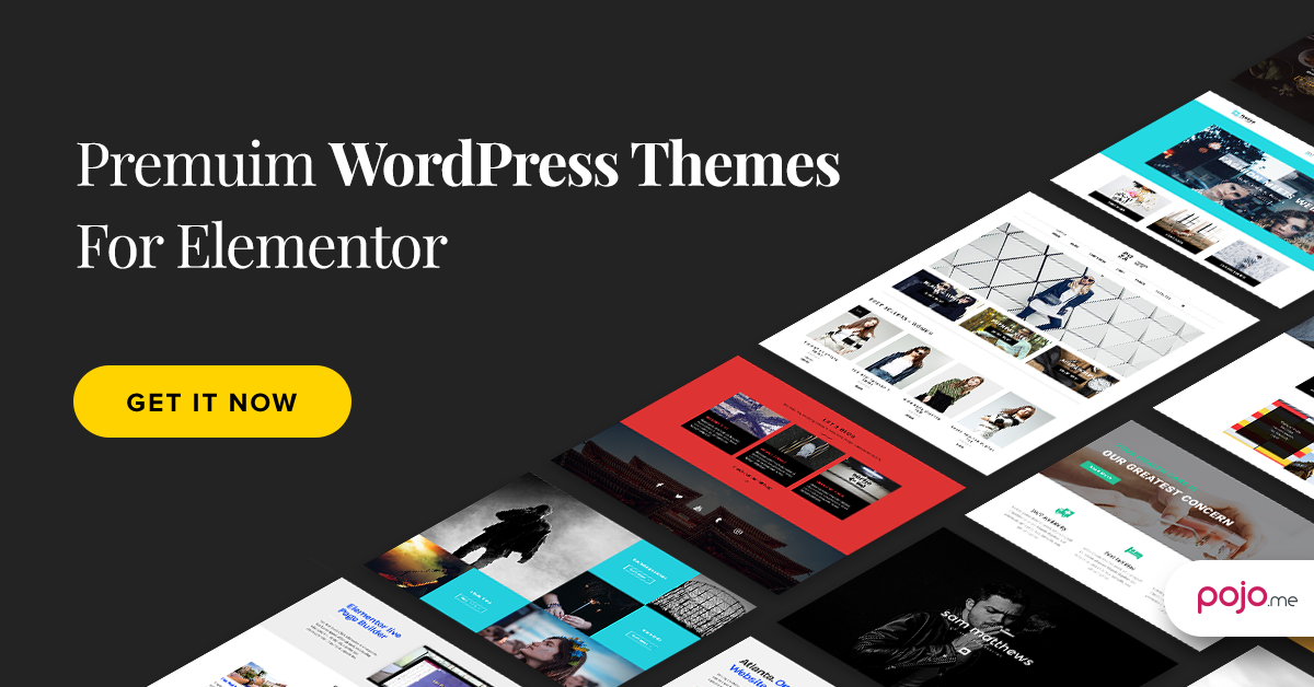 Pojo Themes: Premium WordPress Themes For Elementor Page Builder